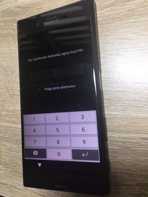 Wyświetlacz Sony F8331 Zbity digitizer.LCD 100% Ok