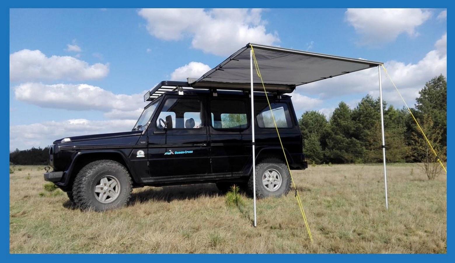 MARKIZA samochodowa 2,5x2,5m namiot dachowy