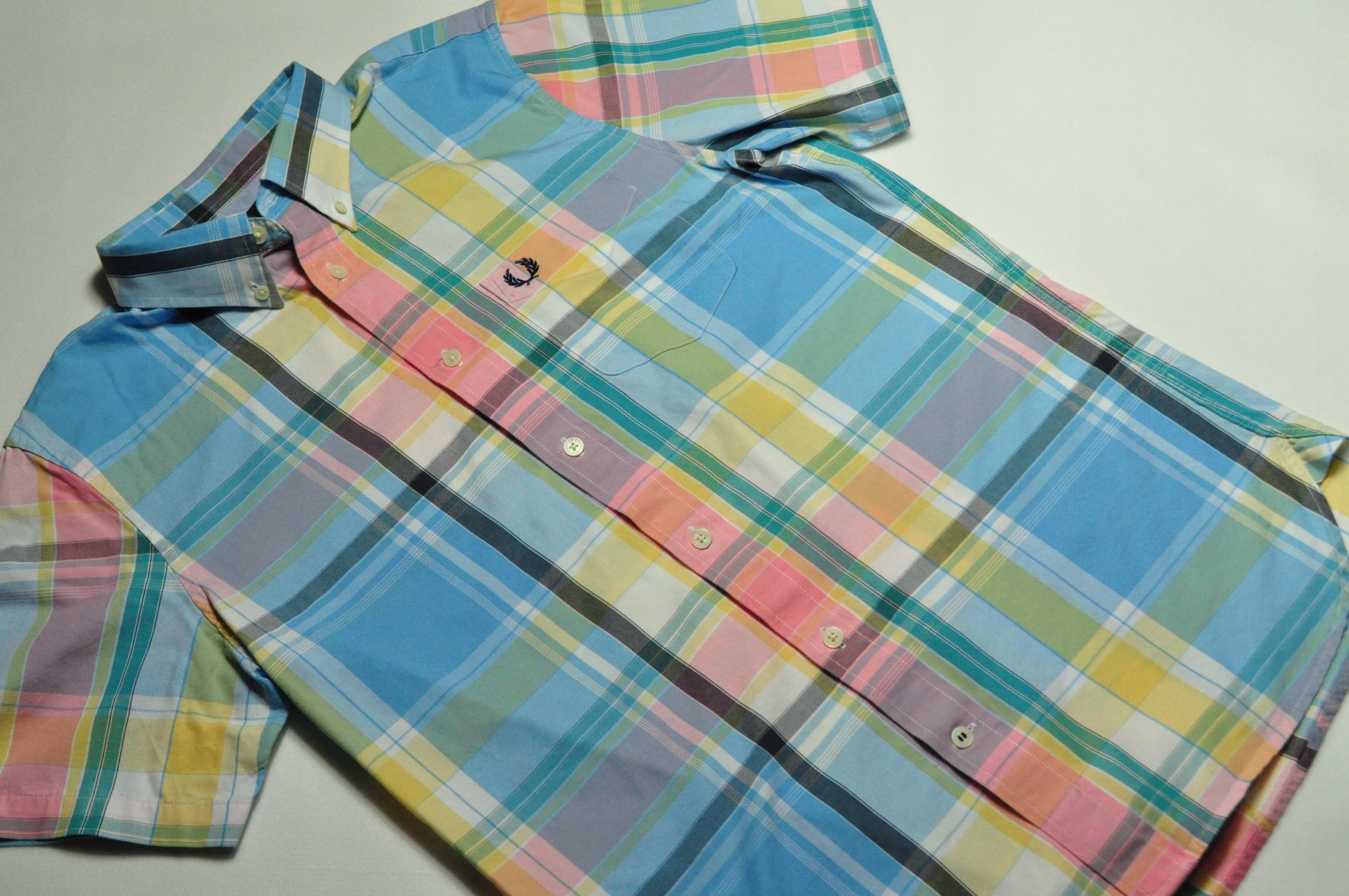 ATT koszula męska Fred Perry krótki rękaw kratka