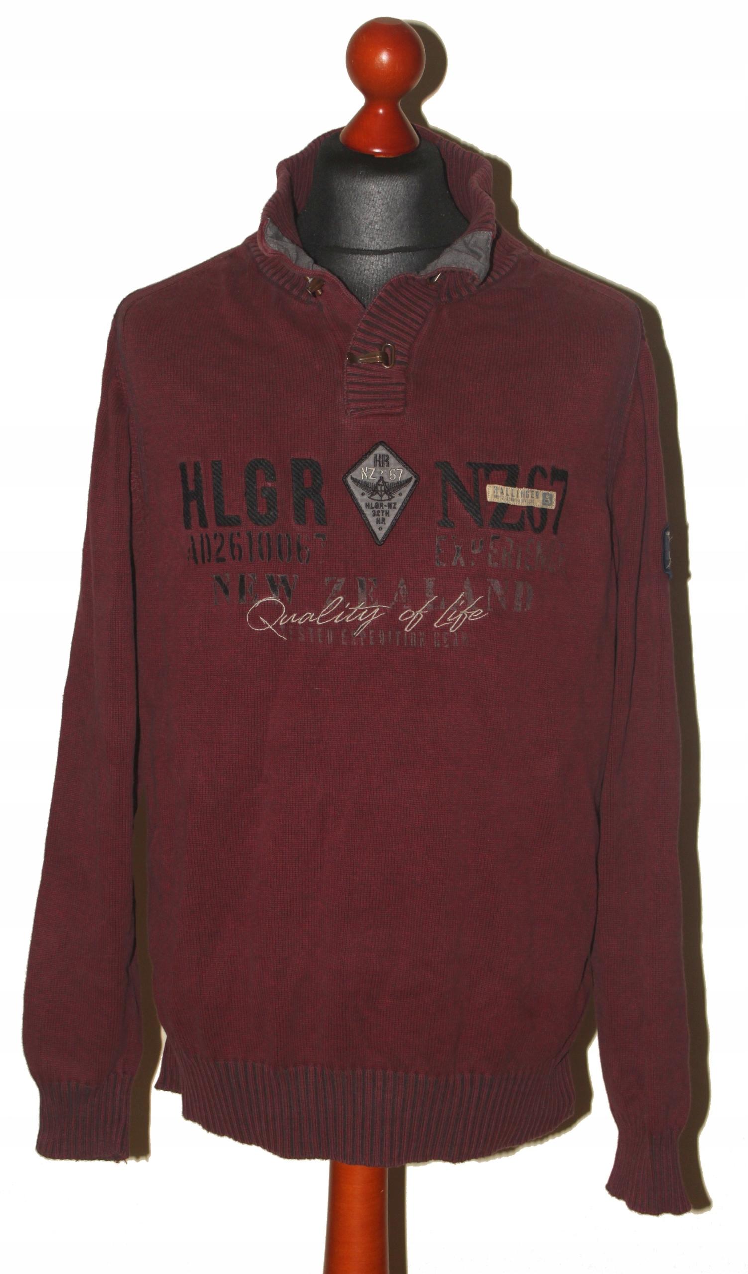 Hallinger sweter męski rozm. L pachy: 57 cm