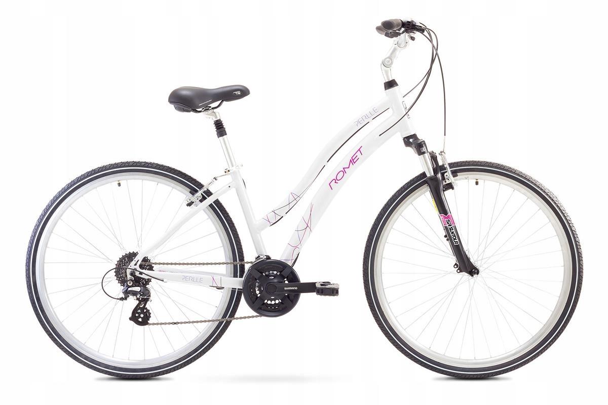 Rowery do miasta Romet Perlle Biały 16