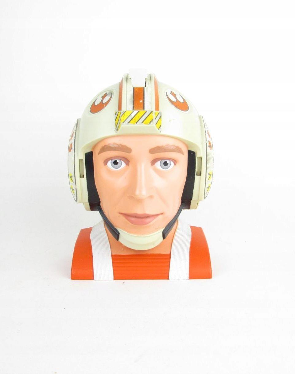 Star Wars-głowa pilota, miniaturowe figurki,statek