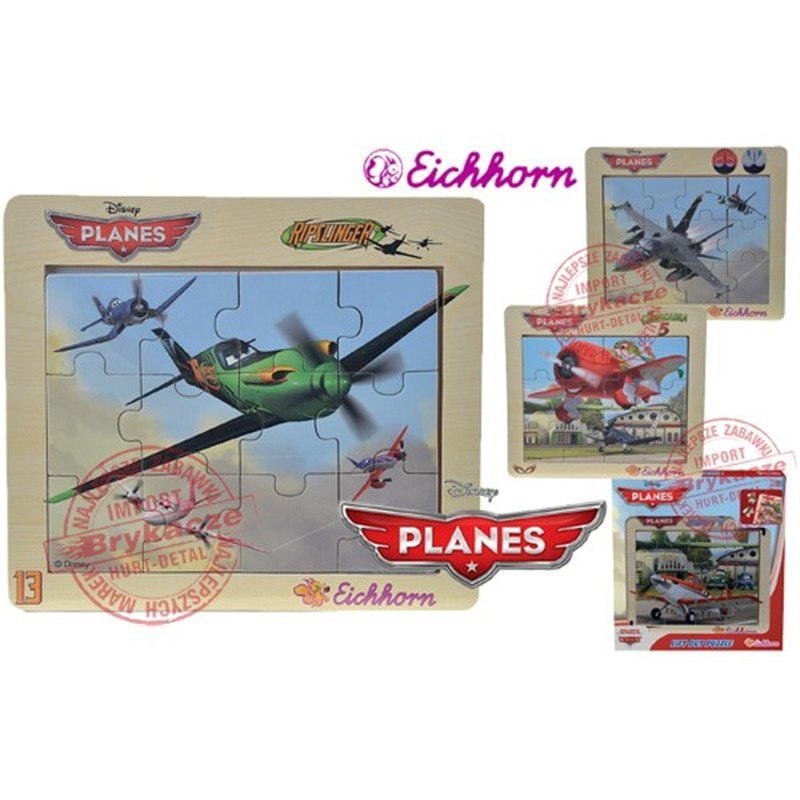 Eichhorn Samoloty Puzzle PLANES w ramce 4 rodz Dis