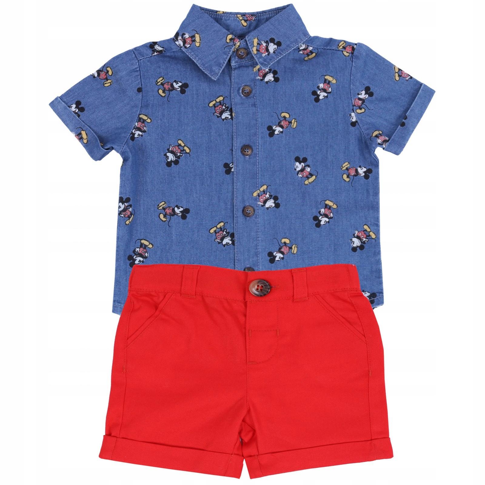 Koszula+czerwone spodenki Myszka Mickey DISNEY 92