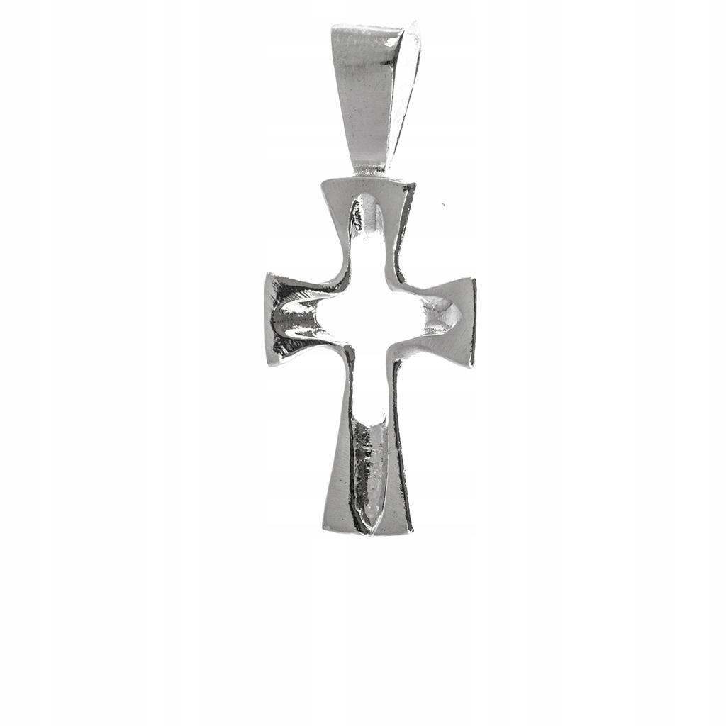 Krzyż srebrny 925 Krzyżyk prezent Chrzest Komunia