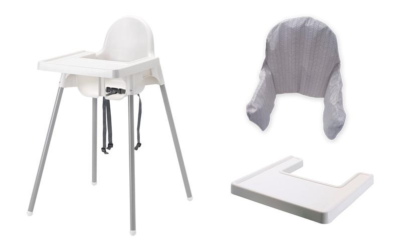 IKEA ANTILOP KRZESEŁKO DO KARMIENIA Z TACĄ + WKŁAD