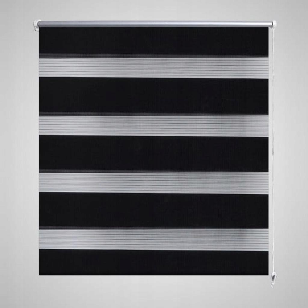 Roleta Zebra 120 x 230 cm czarna
