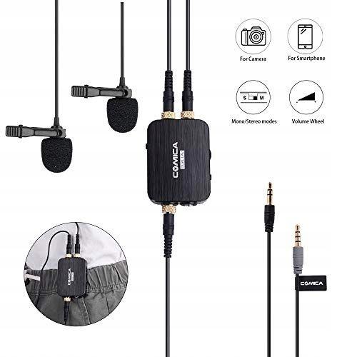NN205 Comica CVM-D03 Dual Mikrofon z nadajnikiem