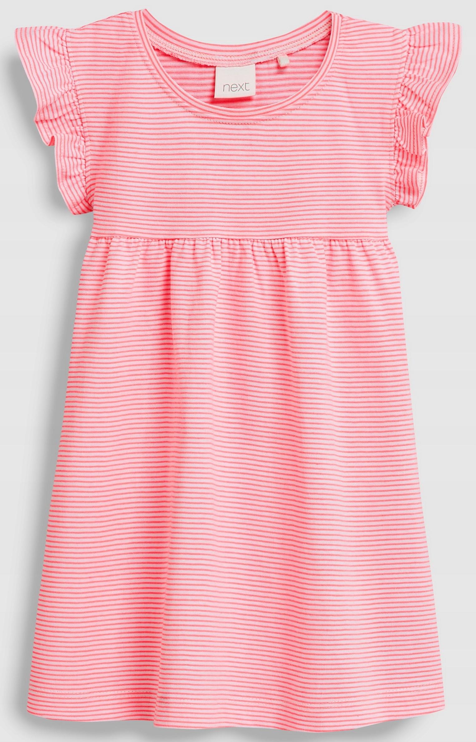 NEXT SUKIENKA Bright Pink Stripe 2-3 L 2019