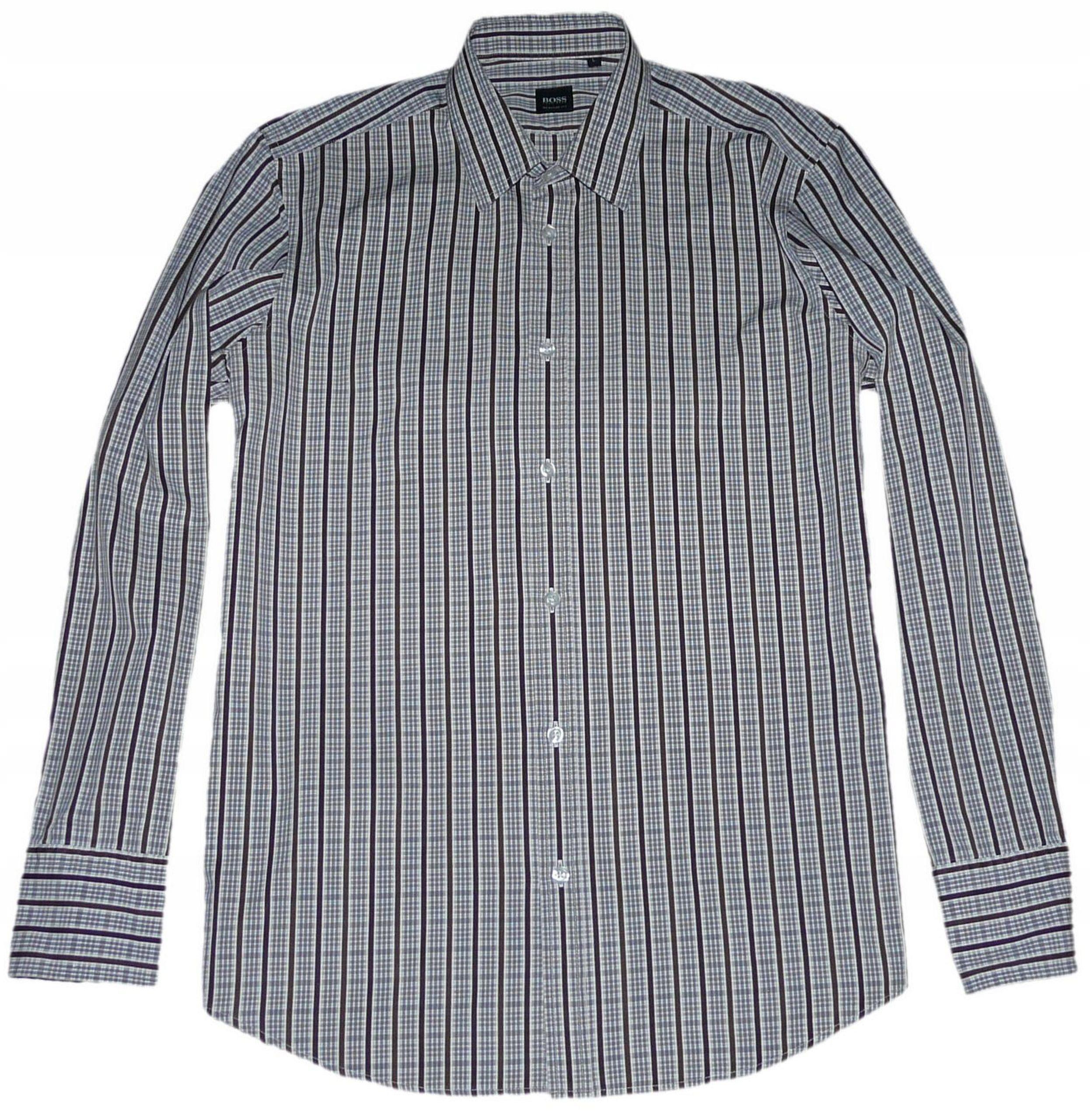 HUGO BOSS koszula męska REGULAR L krata pasy