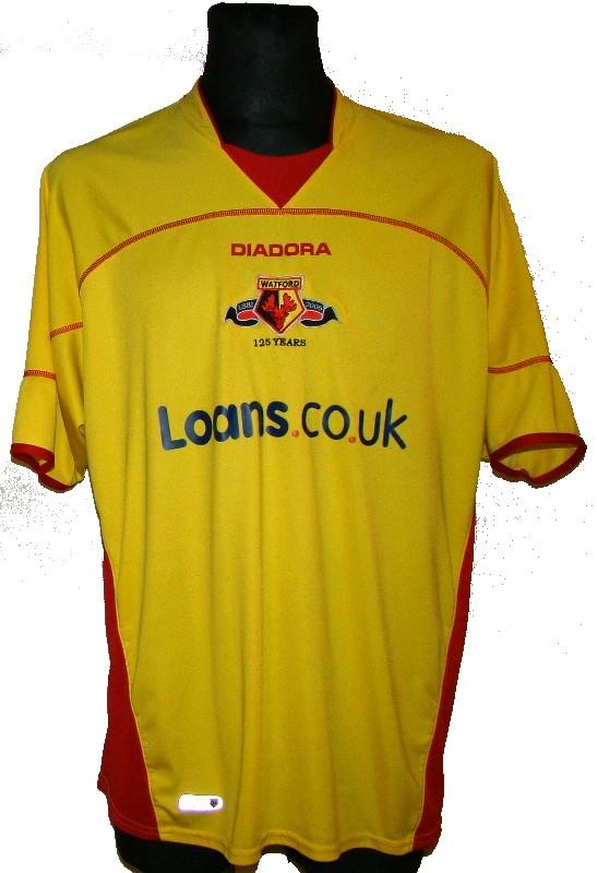 KOSZULKA WATFORD FC 2006 07 XXL DIADORA ANGLIA
