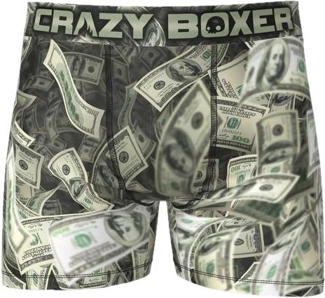 B_M CrazyBoxer smieszne bokserki męskie dollar r-M