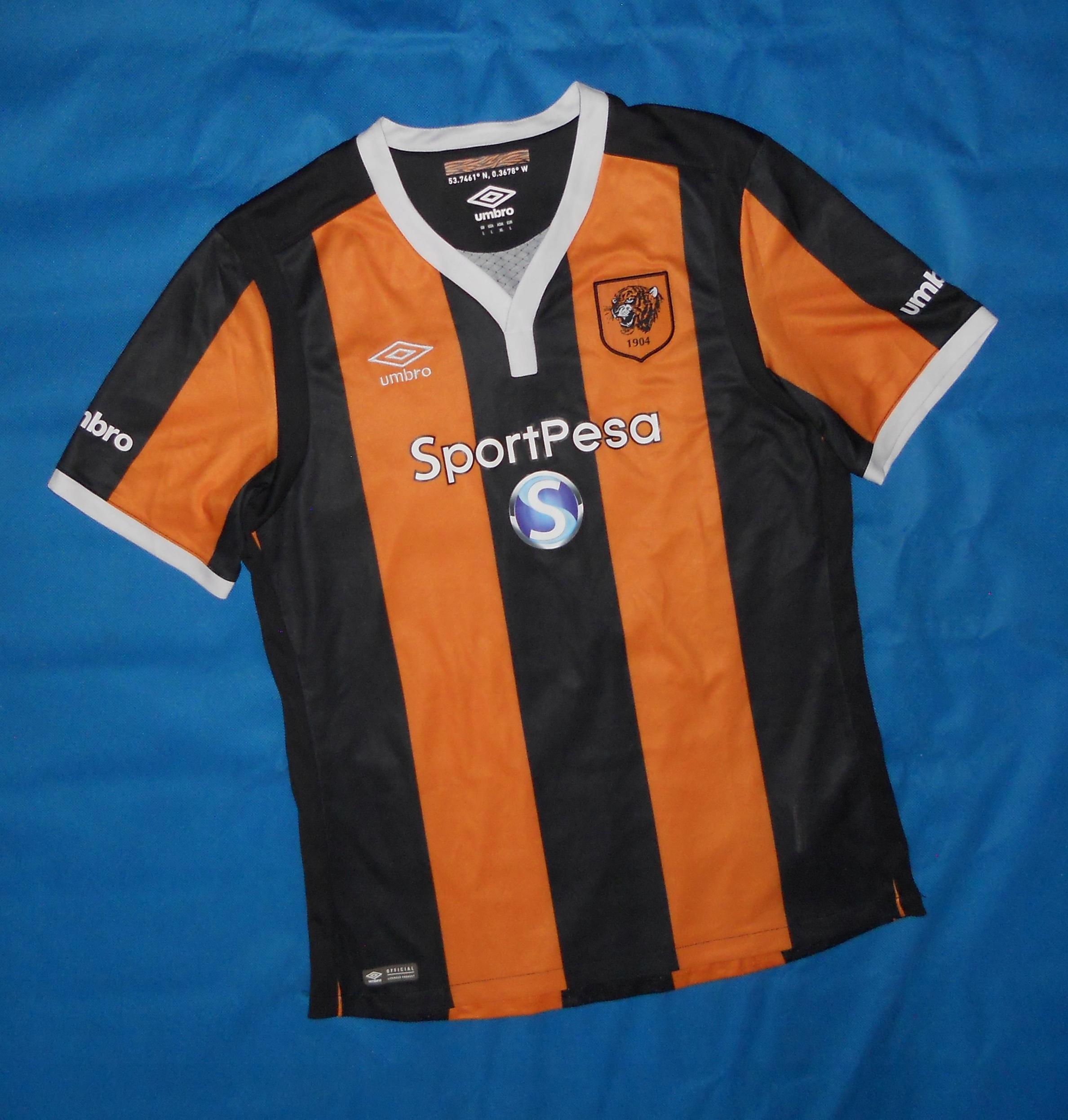 Hull City AFC Umbro Home Shirt 2016/17 Unikat L