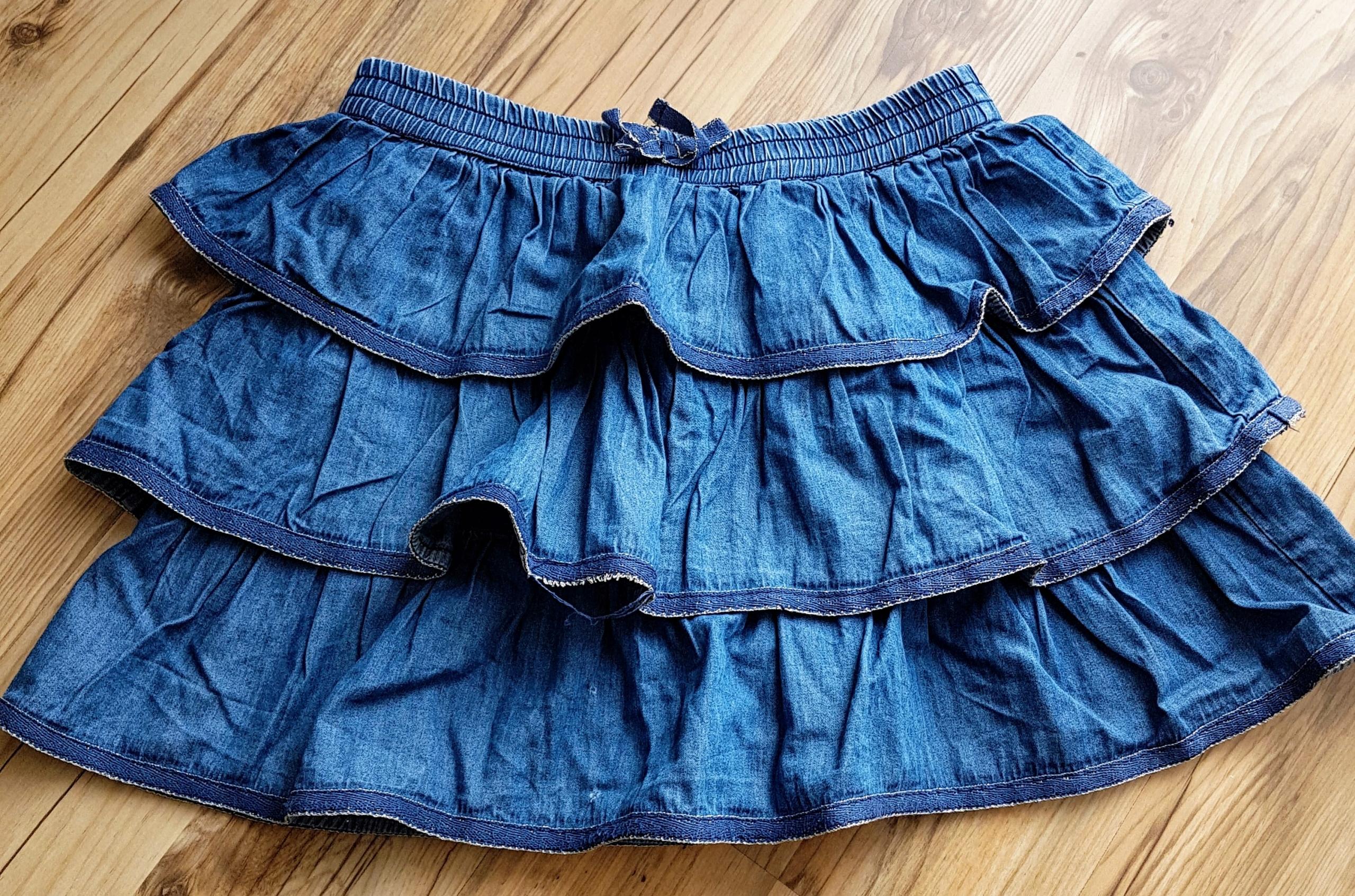Spódniczka Jeans 116cm falbanki wiosna COOL CLUB