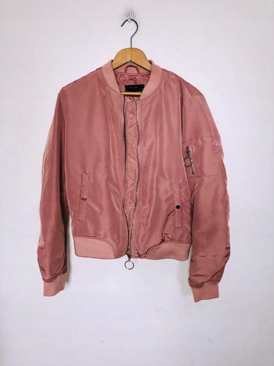 Reserved bomberka bluza różowa pudrowa S 36