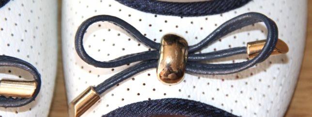 McArthur skóra białe baleriny sandałki 39 ryłko