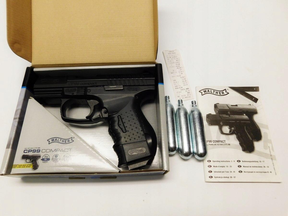 Wiatrówka Pistolet Walther CP99 Compact 4,5mm BB