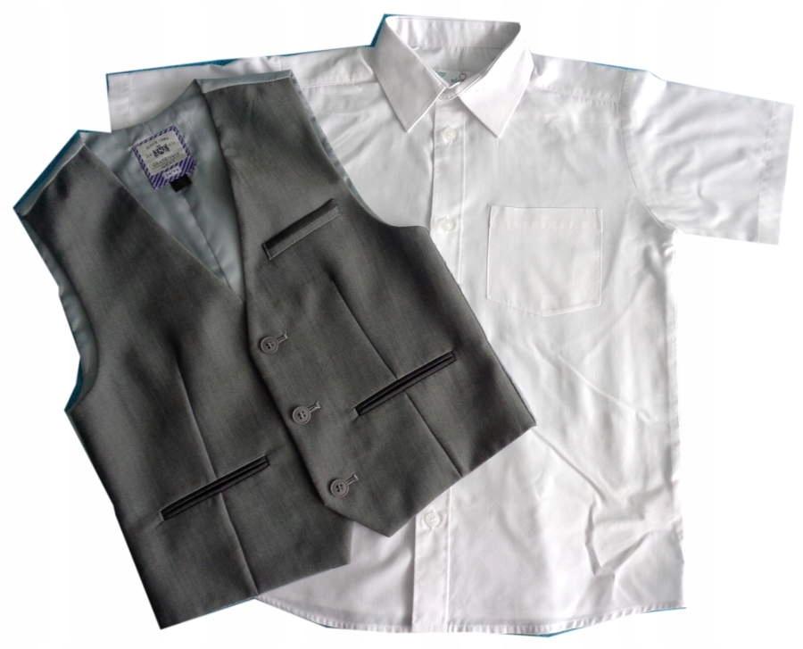 NEXT eleganka KAMIZELKA + koszula CHŁ 122