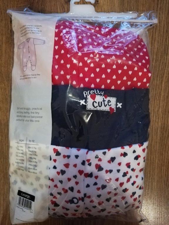 Pajace, piżamy George 86/92 komplet 6 sztuk