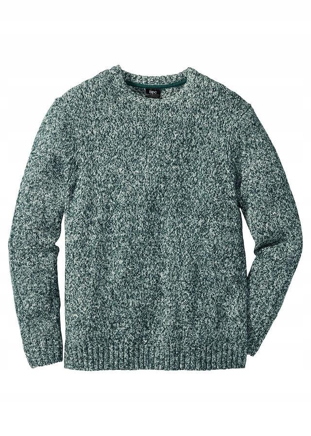Sweter z okrągłym dekol zielony 44/46 (S) 906477