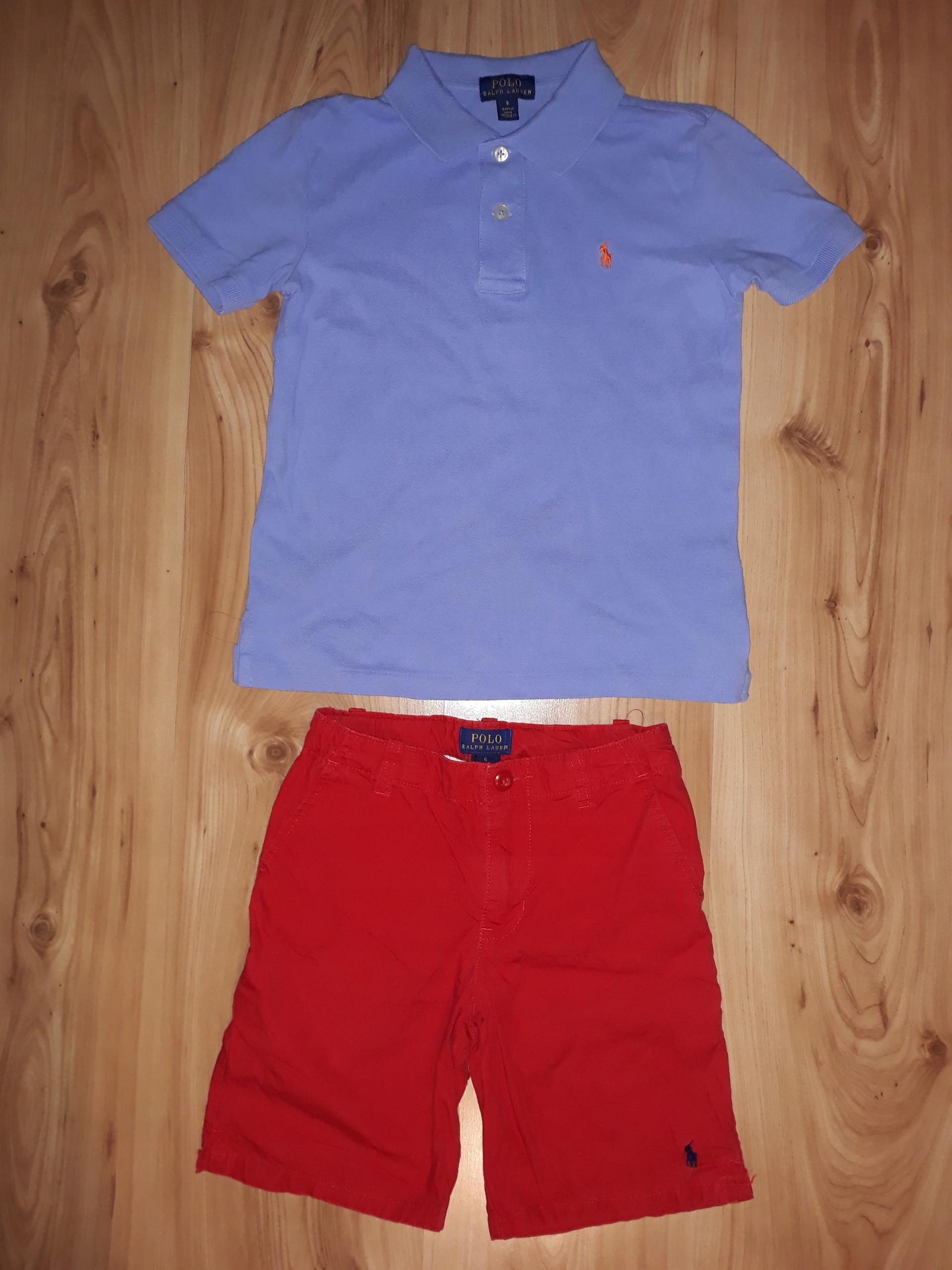 Zestaw Polo Ralph Lauren S 5-6 koszulka spodenki
