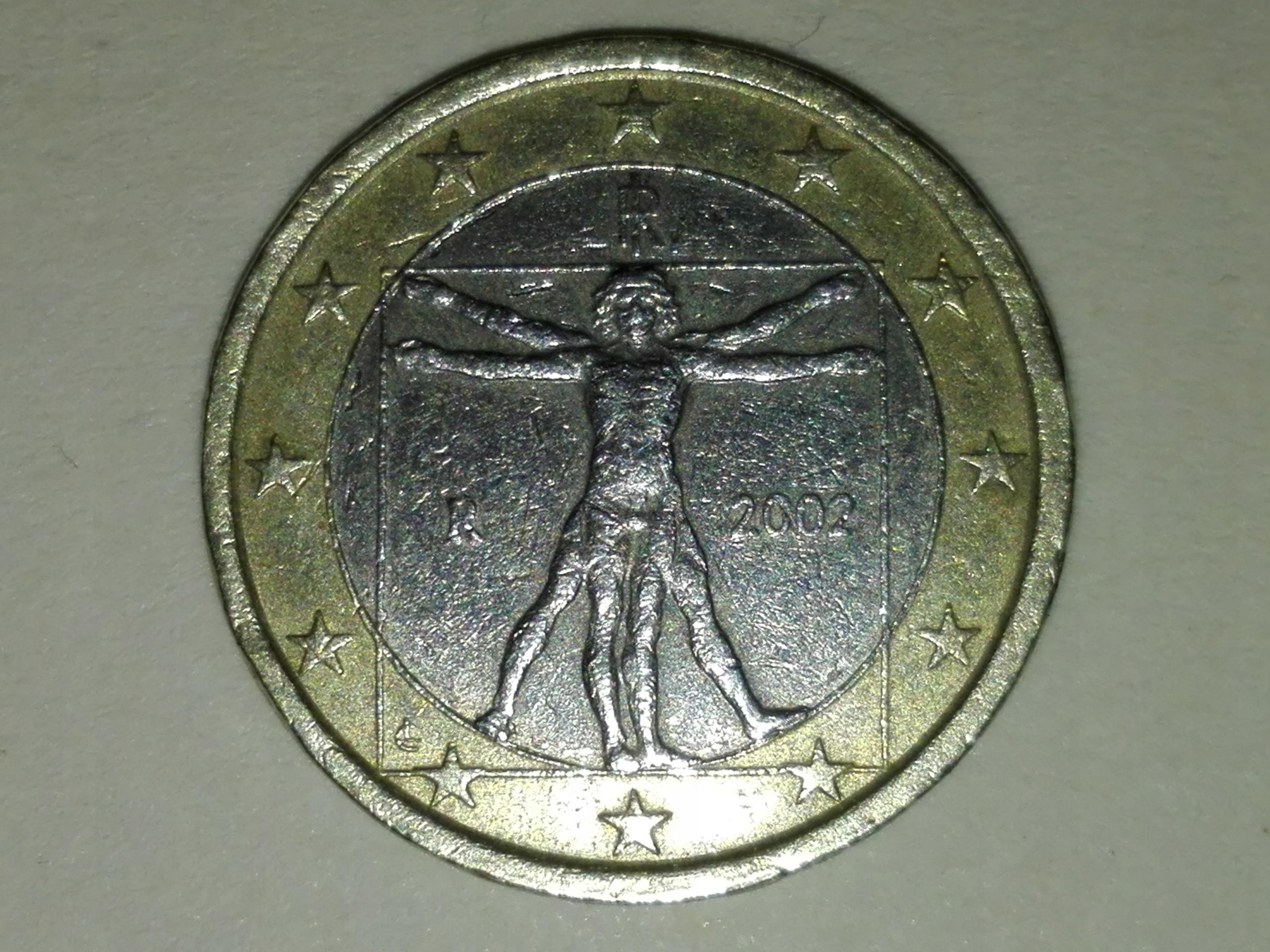 1 euro 2002, Włochy Leonardo da Vinci