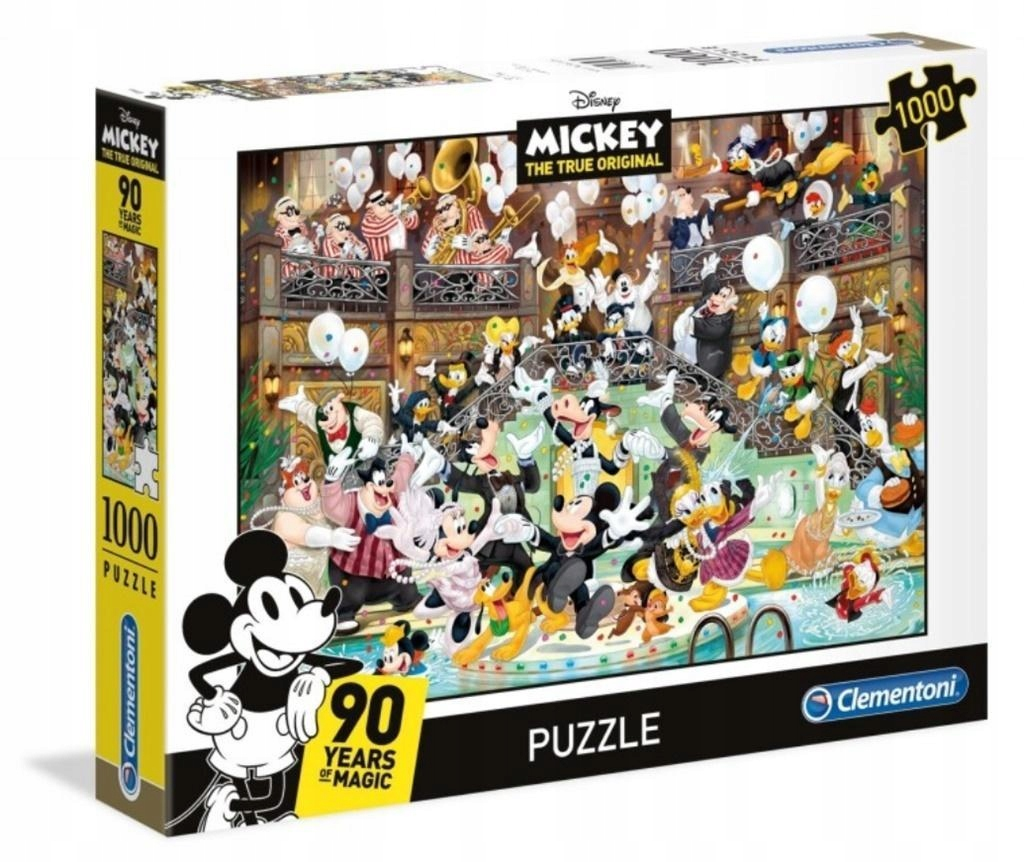 PUZZLE 1000 MICKEY 90 YEARS OF MAGIC, CLEMENTONI