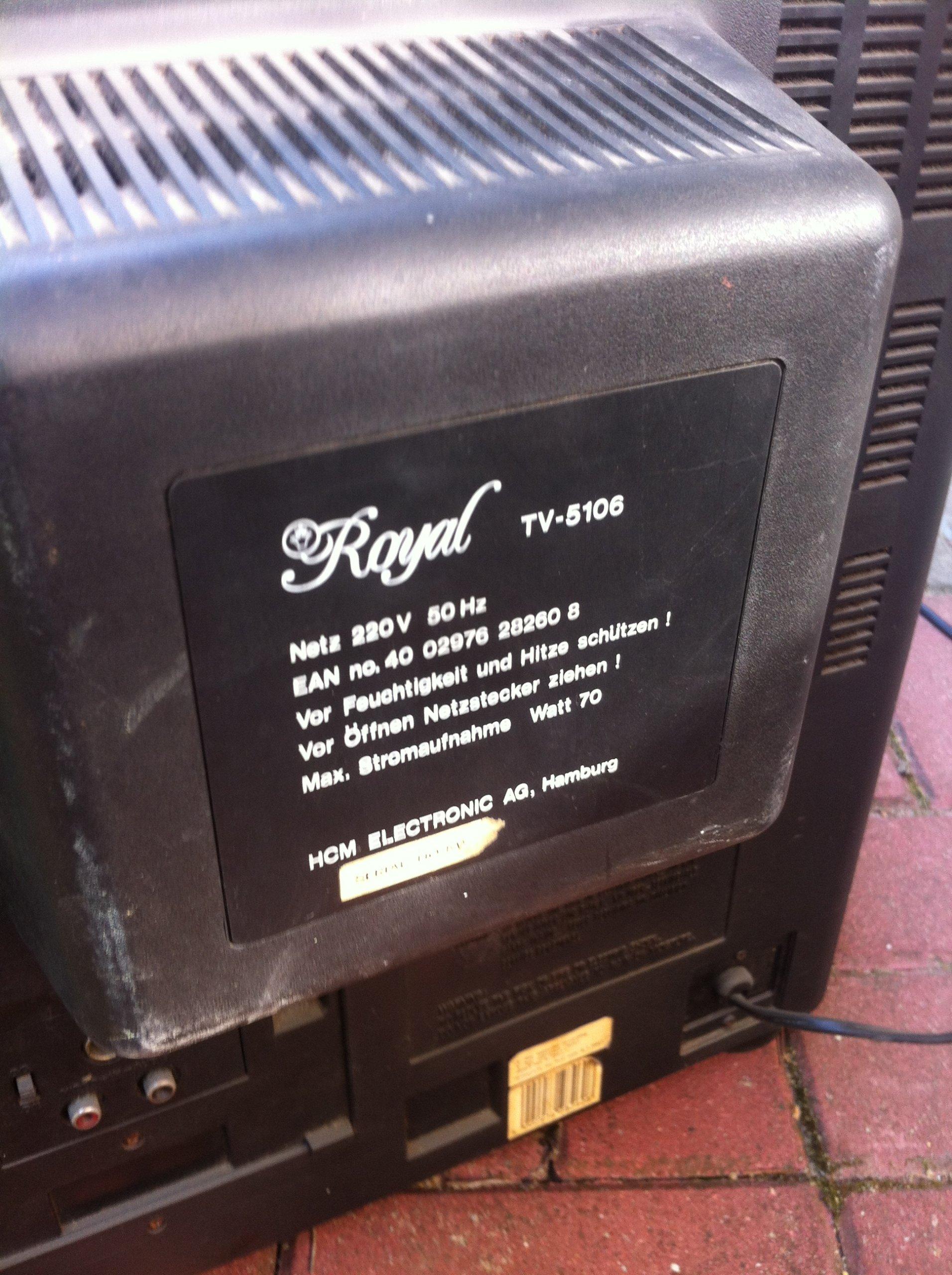 tv telewizor kineskopowy royal HCM TV-5106 sprawny
