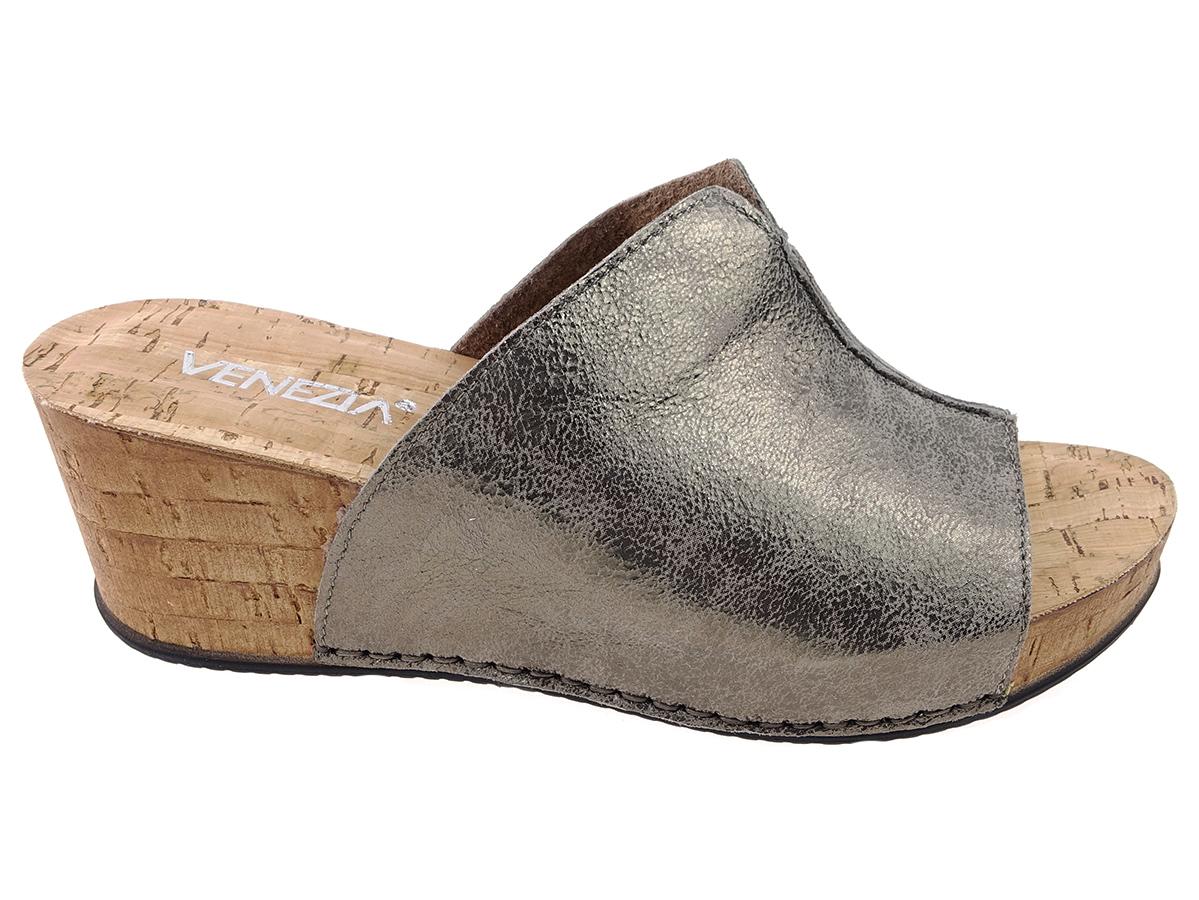 Venezia buty klapki 7753 skóra brąz, skóra 38