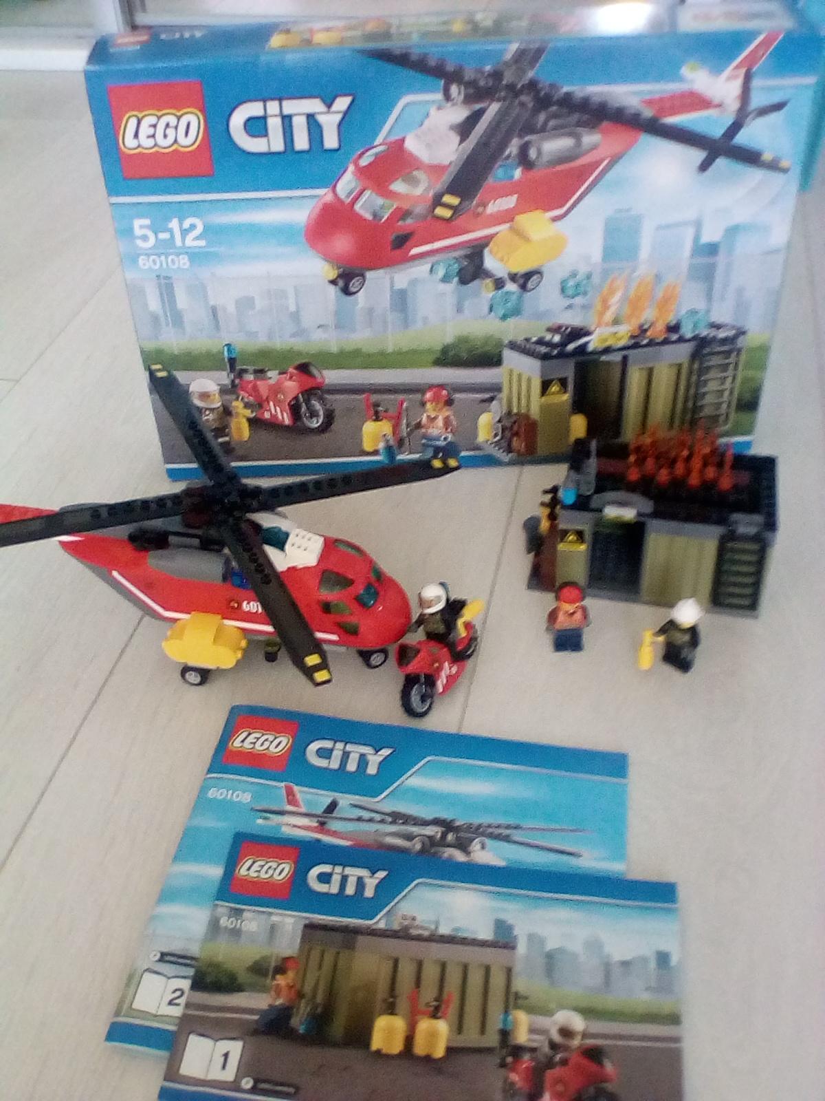 Lego City Helikopter Strażacki 60108 Jak Nowy 7110522618
