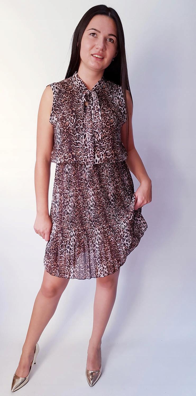 7b19aa9b26 Sukienka Plisowana Ramiączka Motyw Print Panterka - 7589999994 ...