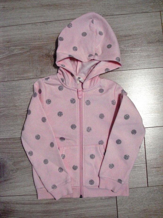 Bluza dresowa H&M 110/116 4-6lat rozowa