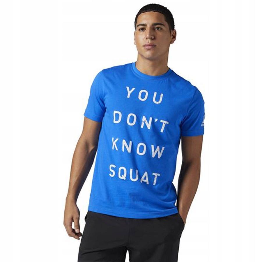 Koszulka Reebok Dont Know Squat BQ8301 L niebieski