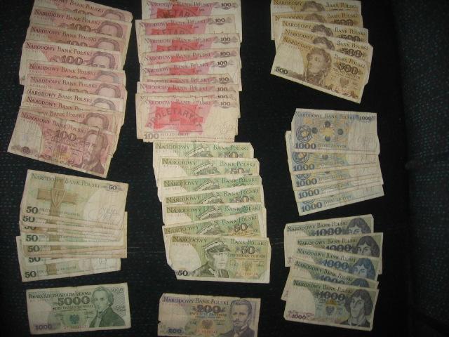 banknoty PRL 50zł,100zł,200zł,500zł itp 52szt