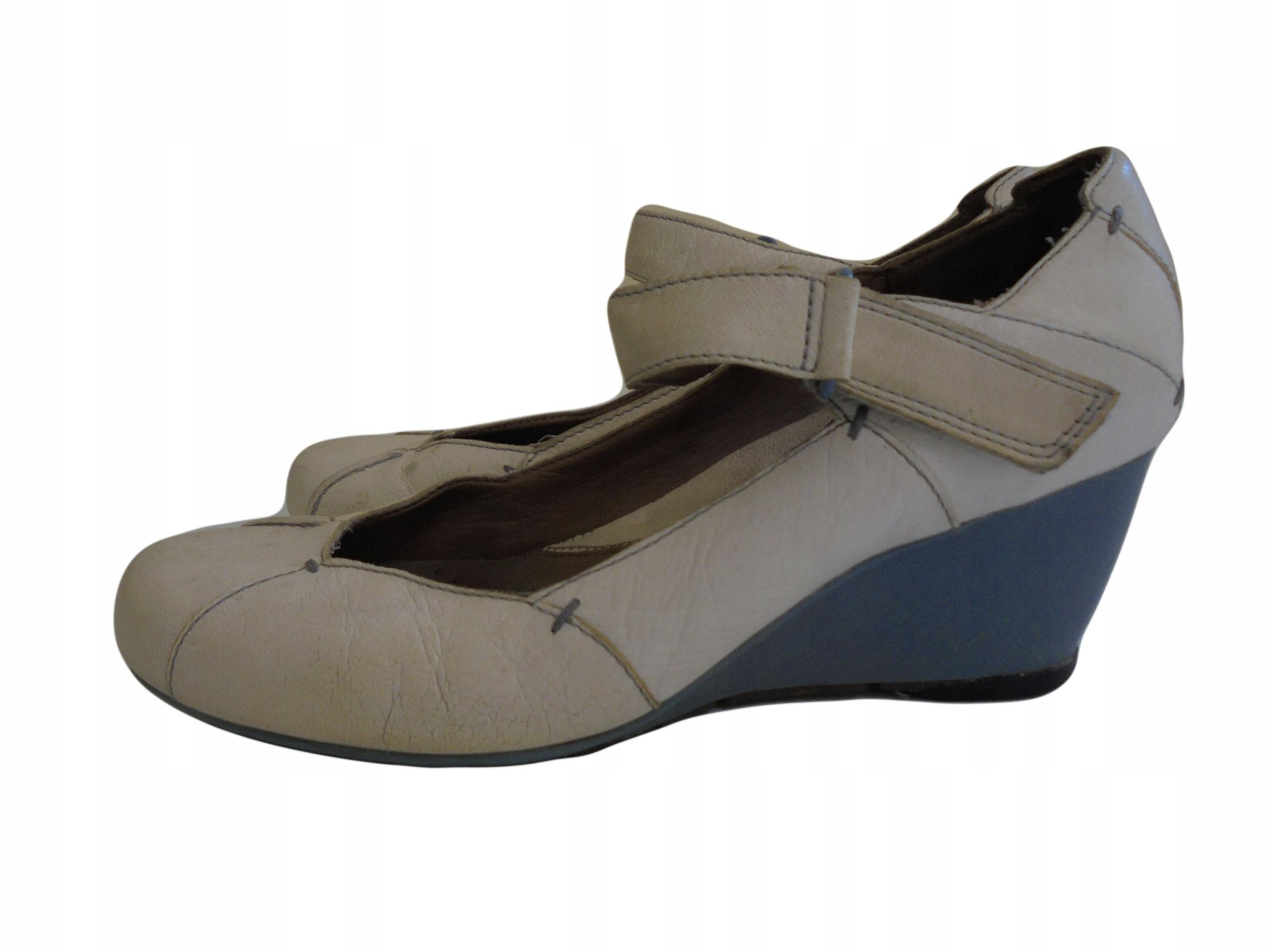 Skórzane buty firmy Clarks. Rozmiar 38.