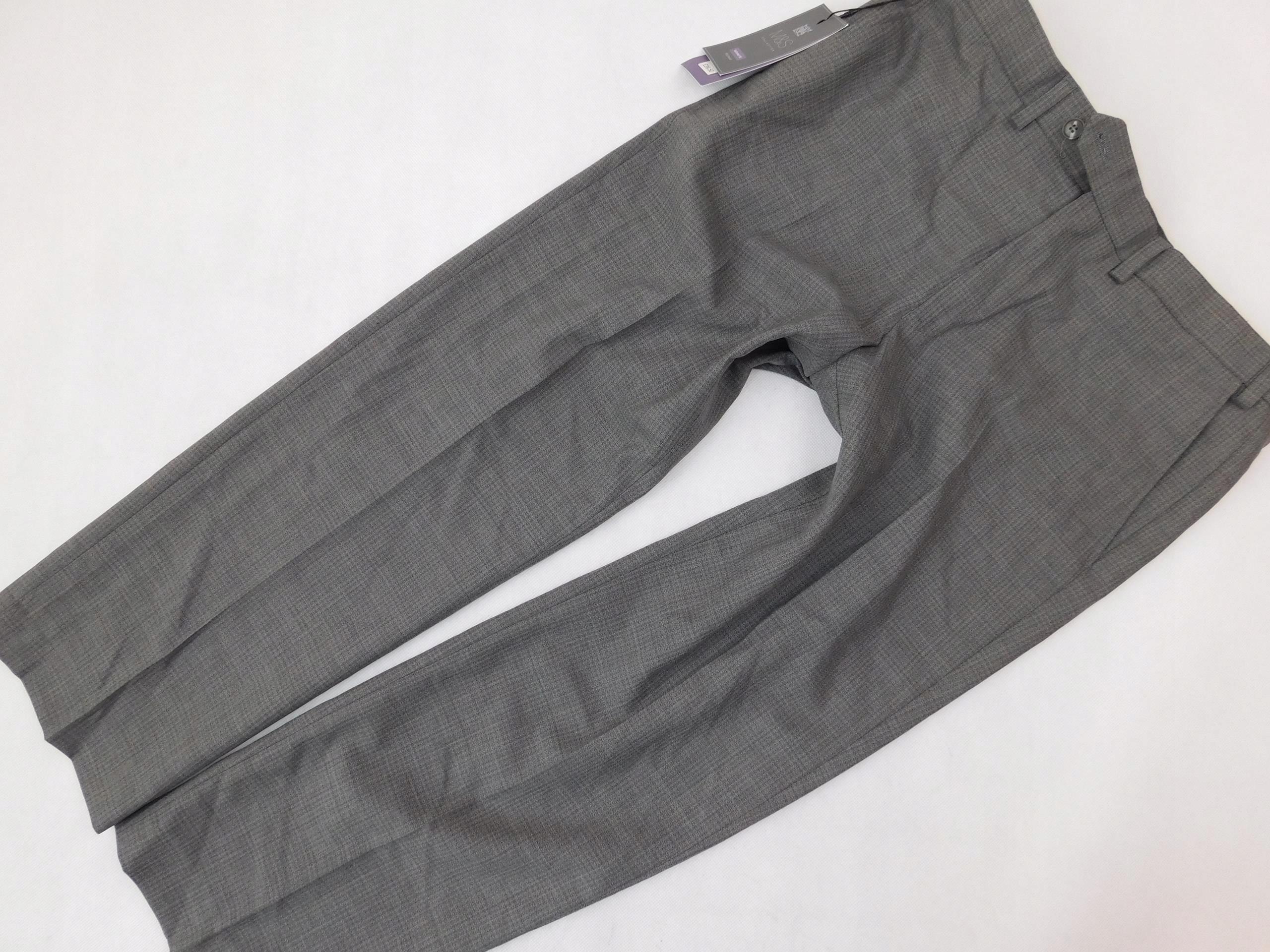 M&S spodnie SZARE casual WEŁNIANE _ W36L29