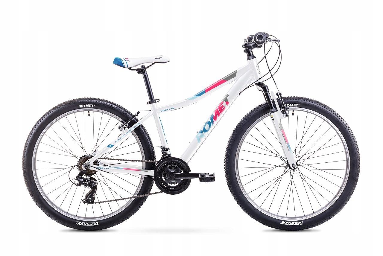 19 Rower ROMET JOLENE 26 biało-niebieski