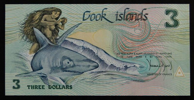 1987 Wyspy Cooka - 3 dolary