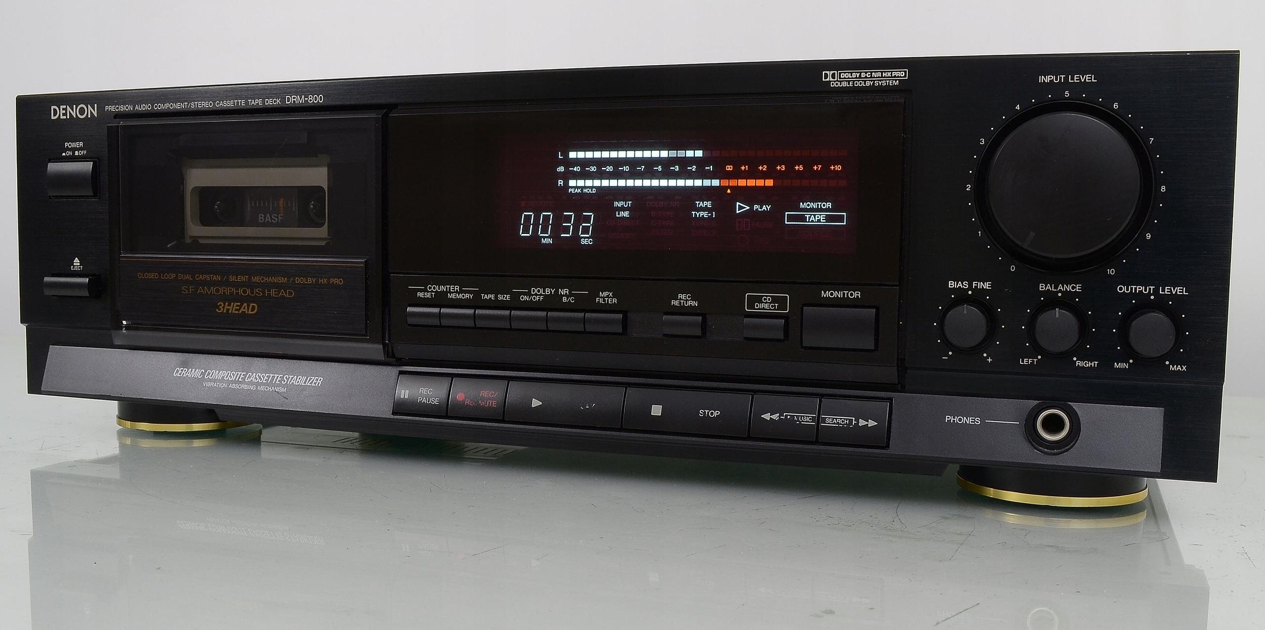DENON DRM-800 Wysokiej klasy japoński magnetofon