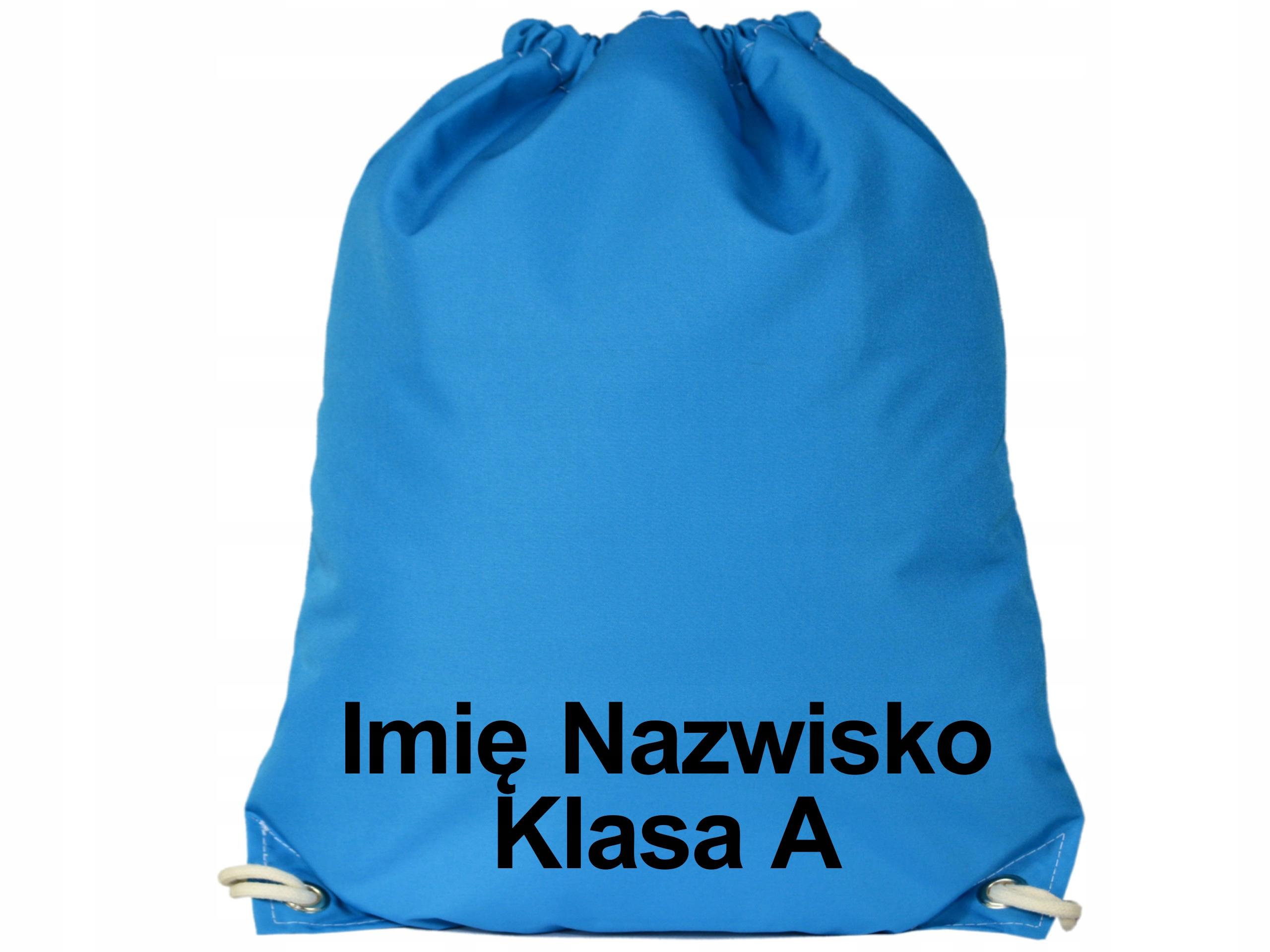 Plecak Worek na Buty Wodoodporny Niebieski Imię