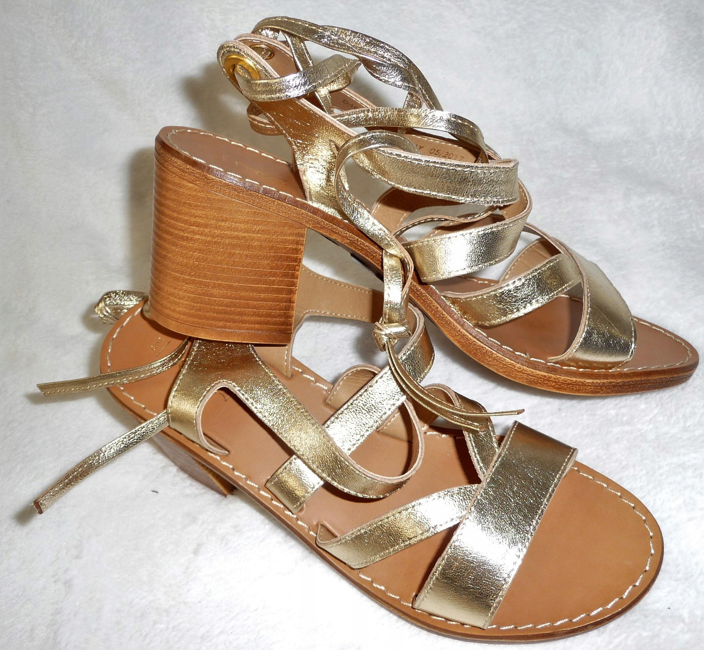 Next nowe sandały skórzane złoto r 42 UK8