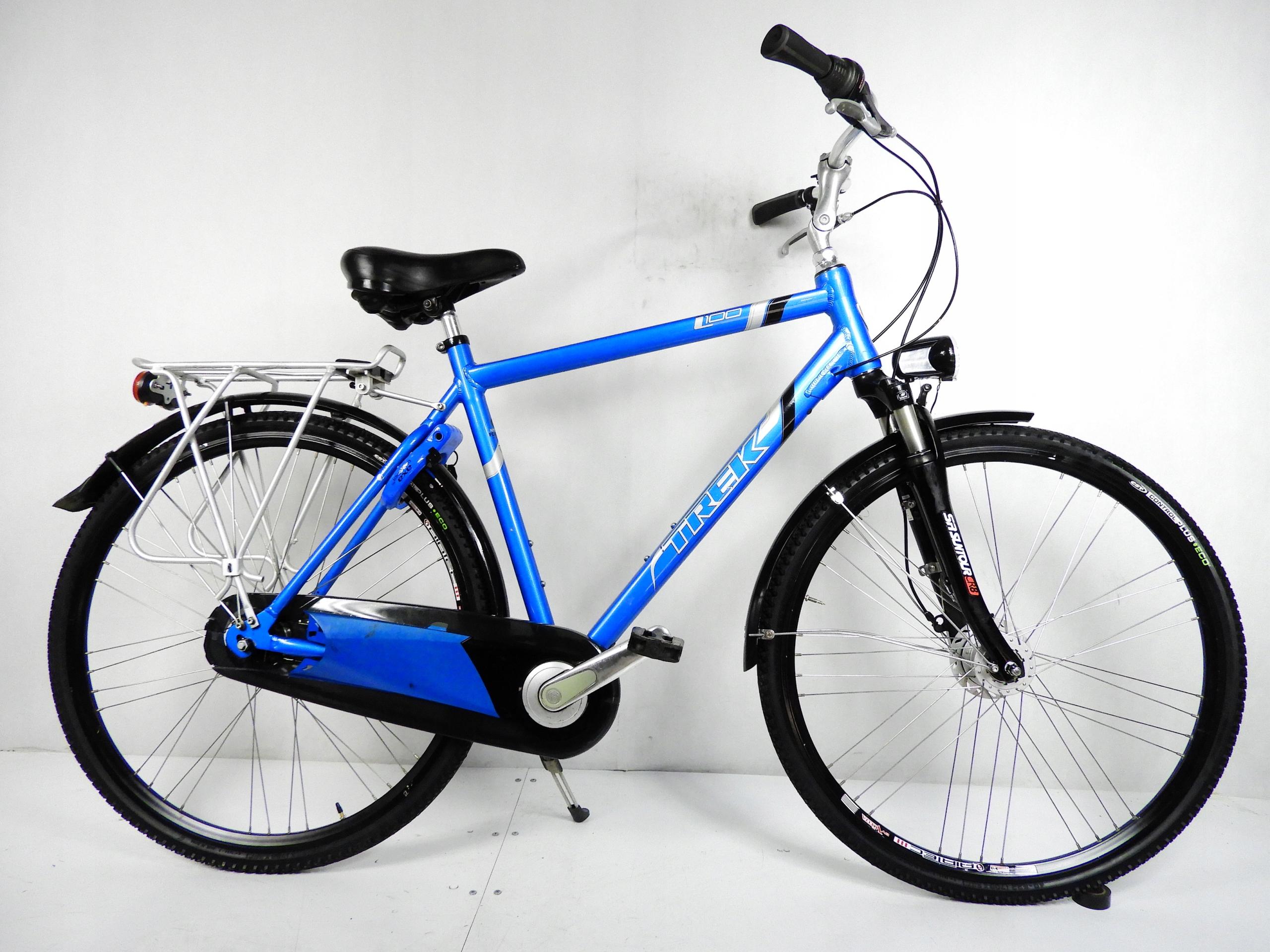 Aluminiowy niebieski TREK L100 28'' prądnica Axa !