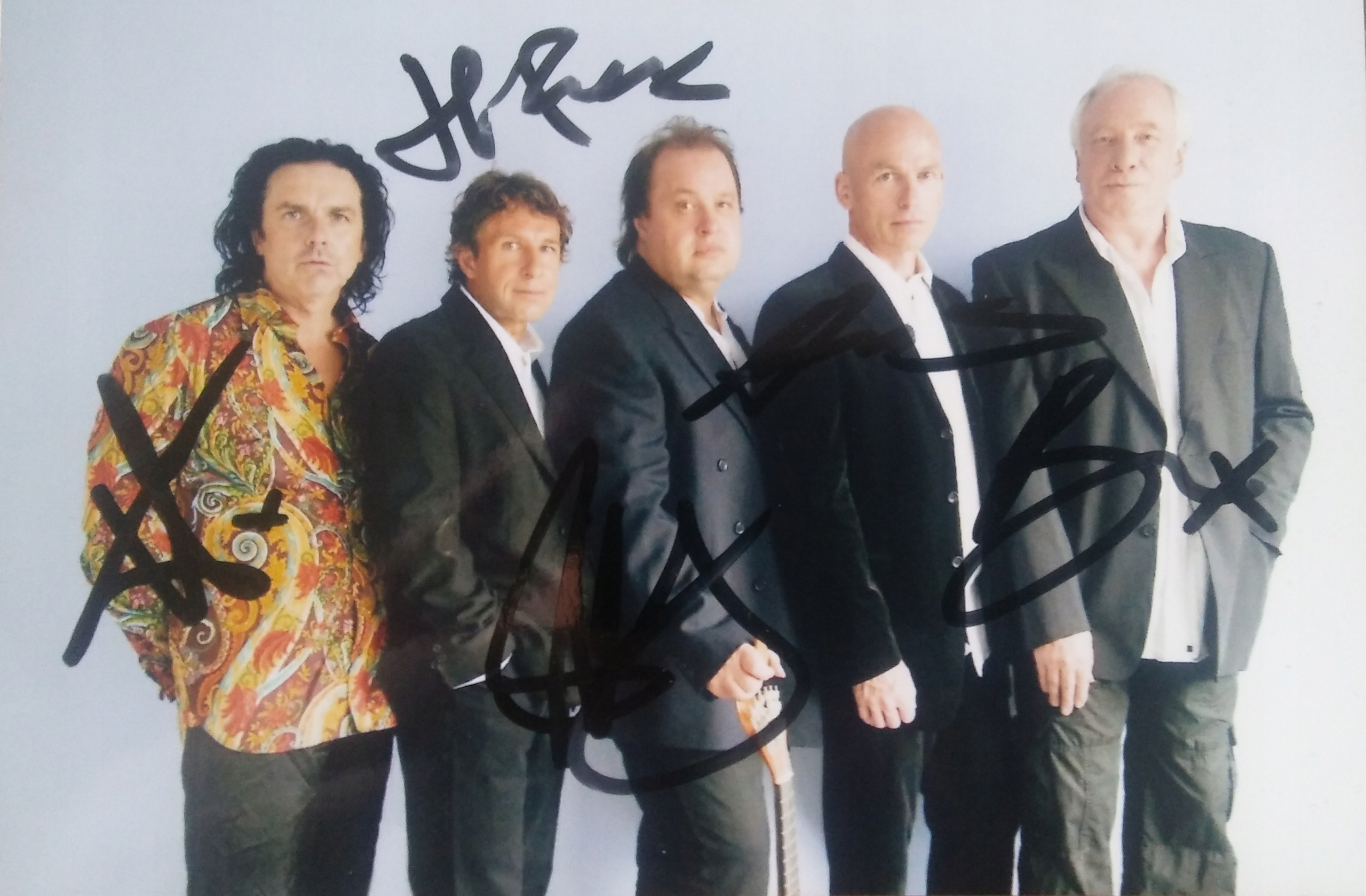 MARILLION - zdjęcie z autografami