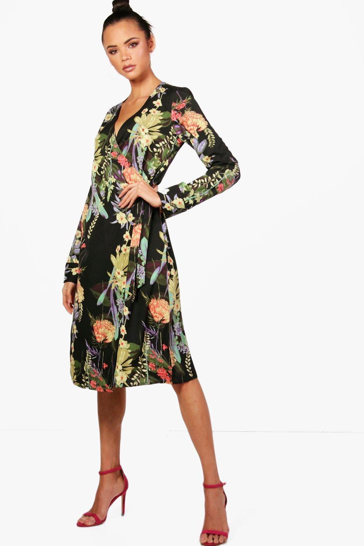 2237de05e8 Boohoo midi sukienka kimono orientalny wzor 40 L - 7548041964 ...