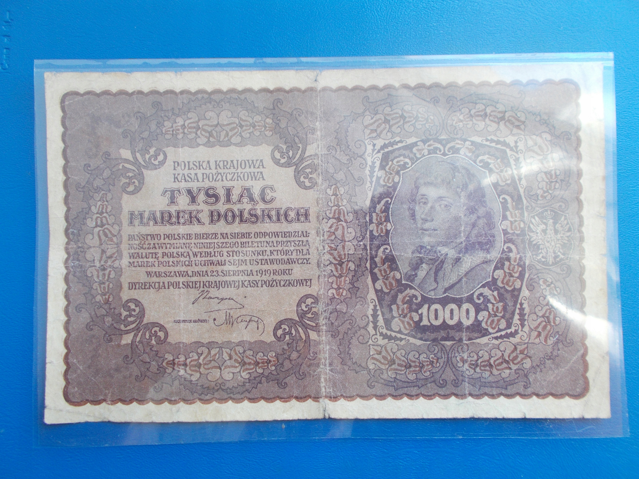 1 000 MAREK POLSKICH-1919-II Serja X-rzadki