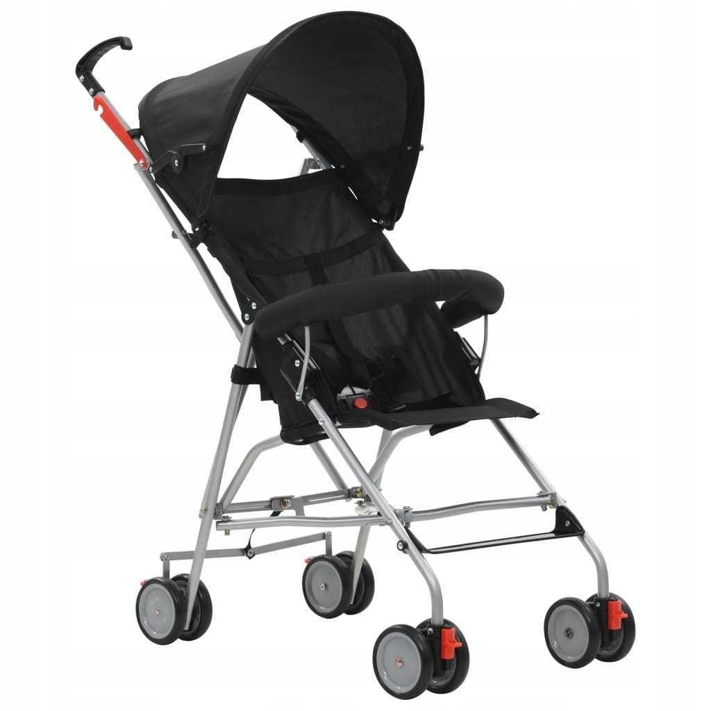 Składany wózek spacerowy, czarny, stalowy GXP-6826