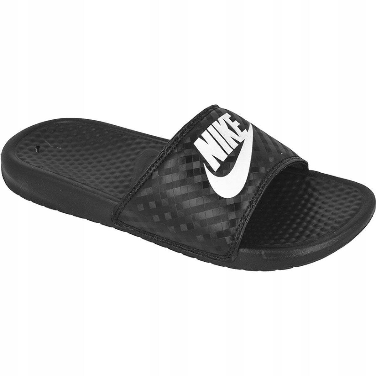 Czarne Buty Damskie Klapki Sportowe Nike r.38