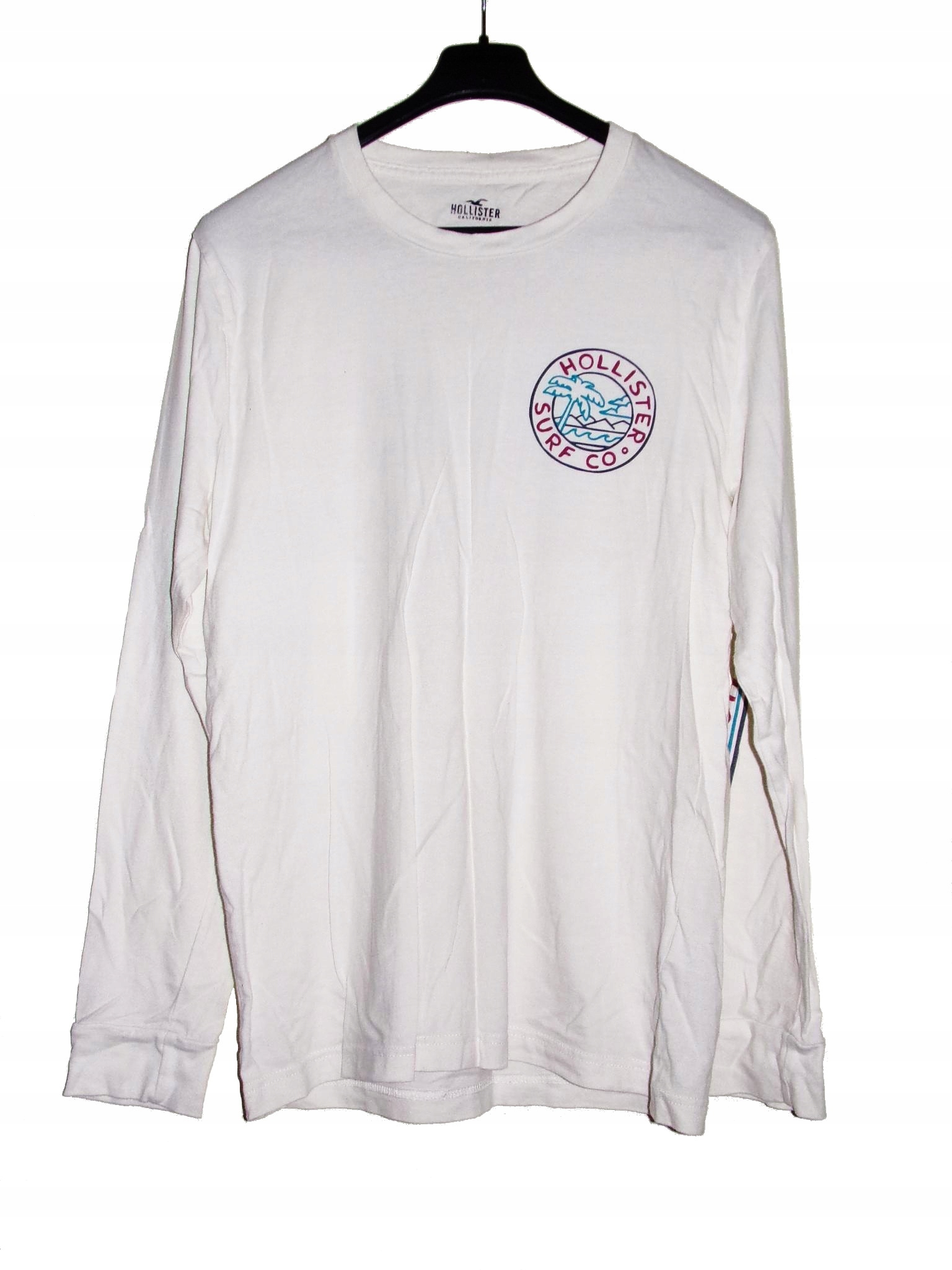 A60 Biała koszulka HOLLISTER z długim rękawem r S