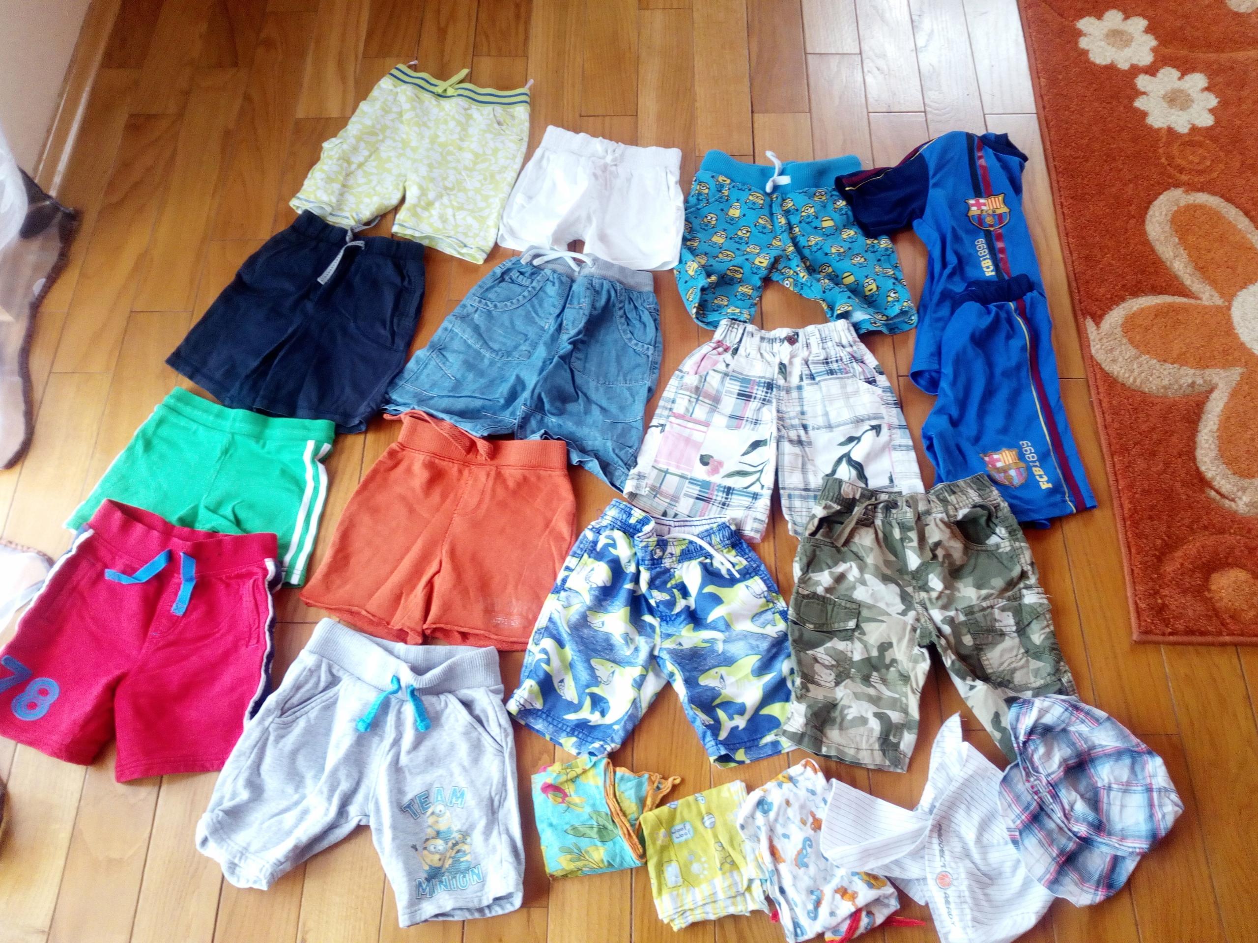 paka ubrań lato spodenki chłopiec 98-110