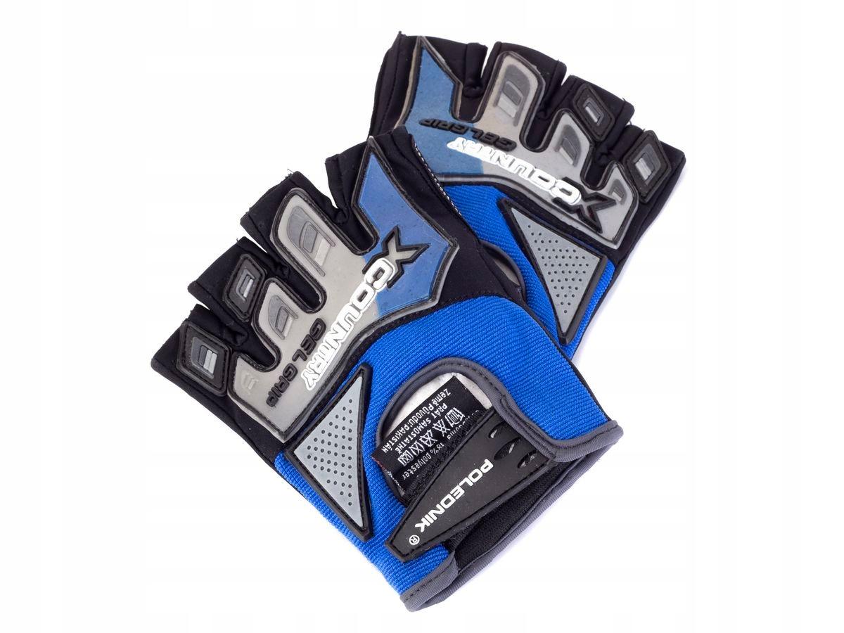 Rękawiczki rowerowe X-COUNTRY kolor niebieski L